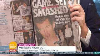 Piers Morgan Calls Andy Murray A Glorious Disgrace | Good Morning Britain