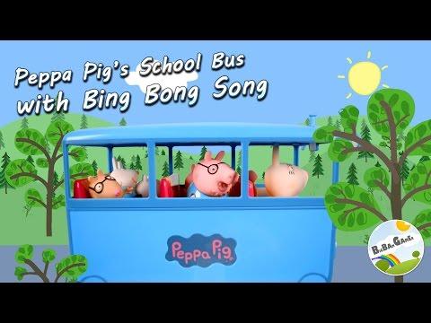 Peppa Pig's School Bus with Bing Bong Song Animation by BigBAMGamer