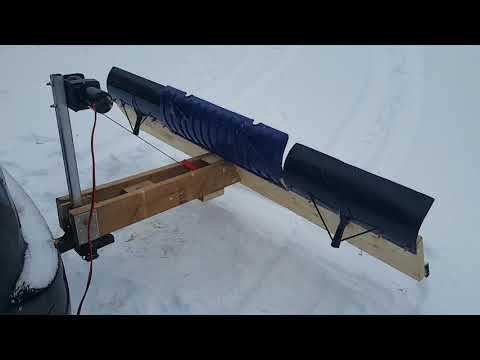 Rear mount wooden snowplow