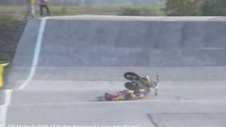 Supermoto of Nations  2009 - Pleven - Bulgaria - Àngel Grau crash