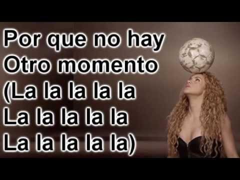 Shakira  La la la Brazil 2014 Spanish version Letra