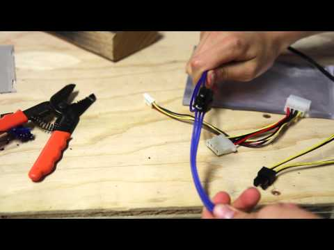 Making a Molex to PCIe power cable