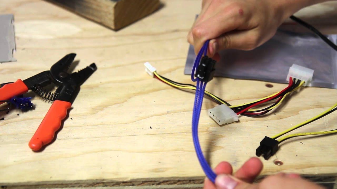 making a molex to pcie power cable [ 1280 x 720 Pixel ]