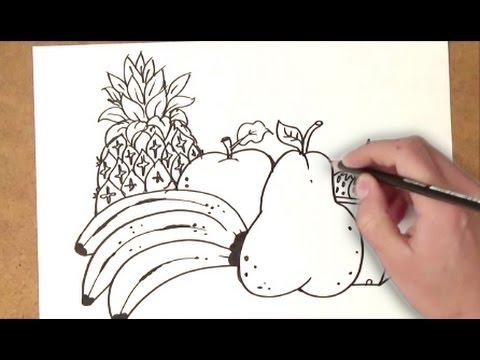 Como Dibujar Comida Saludable Como Dibujar Comida Saludable Paso A Paso
