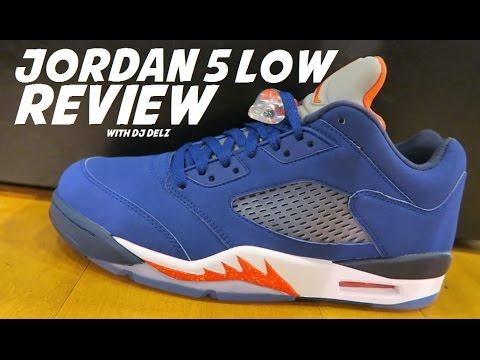 3ce5556cca1 Air Jordan 5 Low Knicks Retro Sneaker Review With Dj Delz - YouTube