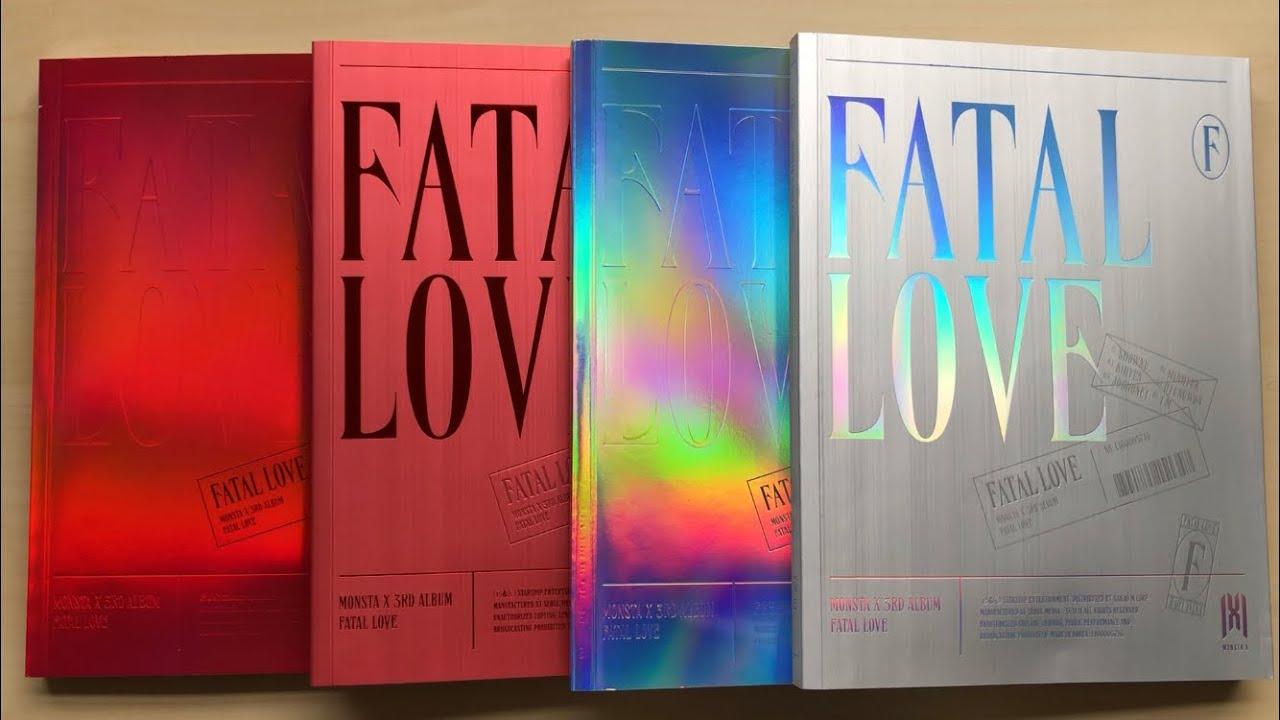 Unboxing Monsta X ˪¬ìŠ¤íƒ€ì—'스 3rd Studio Album Fatal Love Ver 01 02 03 04 Youtube