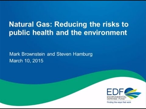 Webinar: Natural gas - Reducing risks to public health and the environment