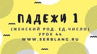 Сербский язык. Урок 44. Женский род ед число