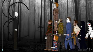 SLENDER MAN vs Jason, Freddy, IT Pennywise, Michael Myers, Leatherface, Chucky, Ghostface, Jeff