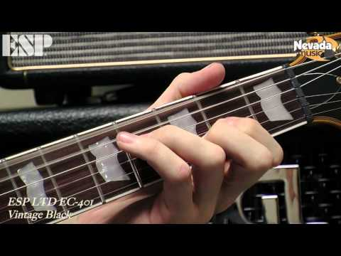 ESP LTD EC 401 in Vintage Black Guitar Demo - Sam Bell @ Nevada Music UK