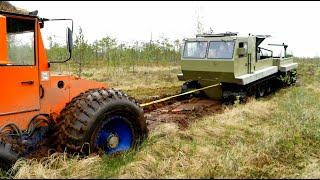 Вездеходы ГИДРОТРАК и ТРОМ 17.  Битва на тяжёлом болоте.