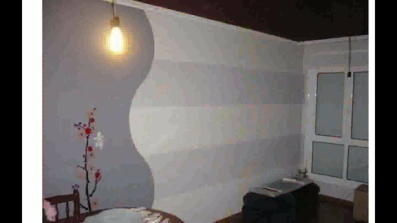 Ideas para pintar paredes en dos colores youtube for Como decorar una pared con pintura
