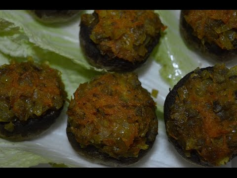 Фаршированные шампиньоны запеченные в духовке ♥ Постное блюдо на Новый Год ♥ Stuffed mushrooms
