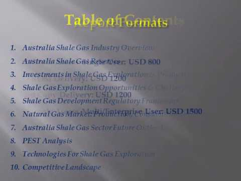 Australia Shale Gas Industry Analysis