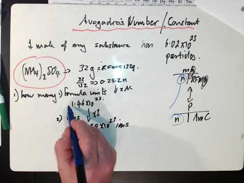 AS Chemistry: Avogadro's number calculations