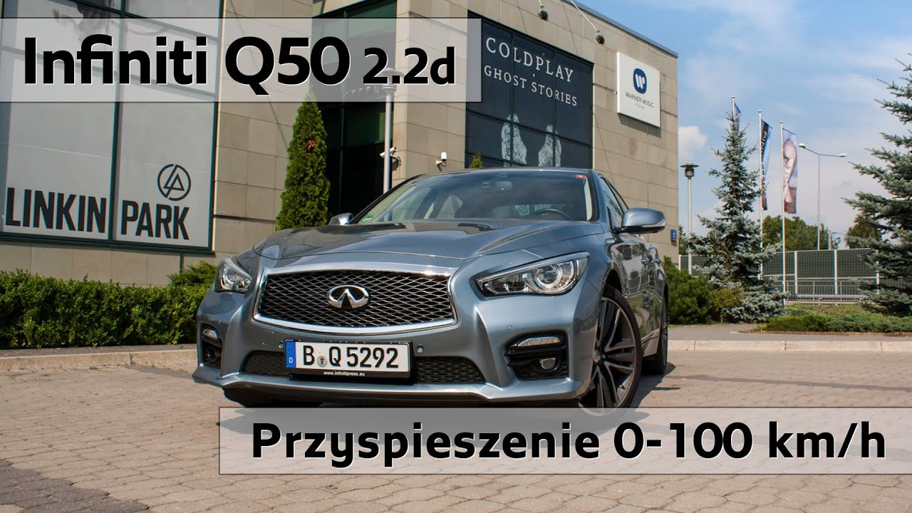 Infiniti q50 2 2d 7at sport test przyspieszenia acceleration 0 100 km h