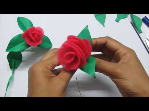 How to make realistic sponge Roses ( Complete tutorial) Gift idea for Valentine day