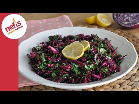 Turşu Tadında Mor Lahana Salatası Yapımı