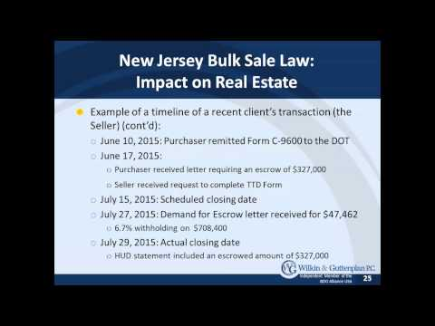 NJ  Tax Considerations for Real Estate Owners