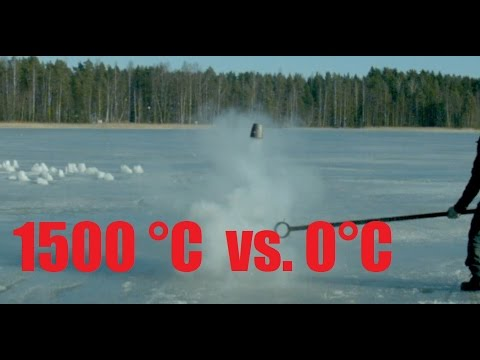 Molten Copper, Aluminium and Salt Vs. Frozen Lake