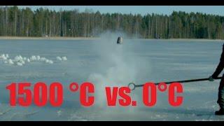 Molten Copper, Aluminium and Salt Vs. Frozen Lake