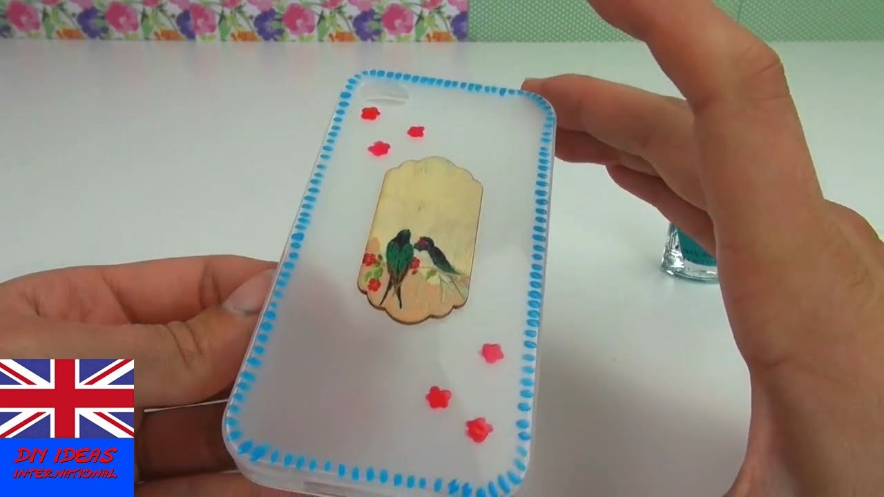 Diy Decorate Mobile Case Tutorial How To Decorate An Empty Phone
