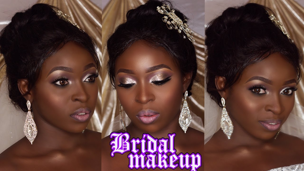 Bridal makeup for brown skin