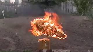 Ворон из дерева  бензопилой