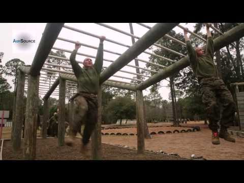 Marine Corps Recruits Navigate Through Obstacles in Parris Island Boot Camp