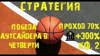 Прибыльная стратегия ставок на баскетбол! Хороший плюс к банку