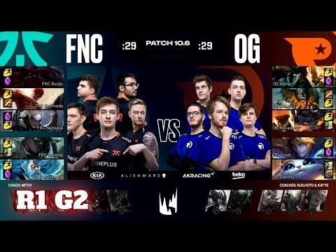 Fnatic Vs Origen - Game 2   Round 1 PlayOffs S10 LEC Spring 2020   FNC Vs OG G2