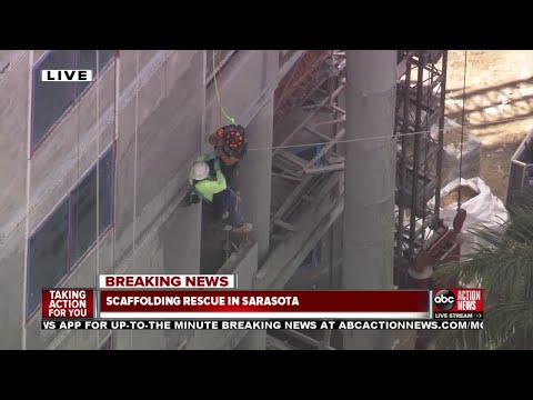 Man rescued from dangling scaffolding in Sarasota County