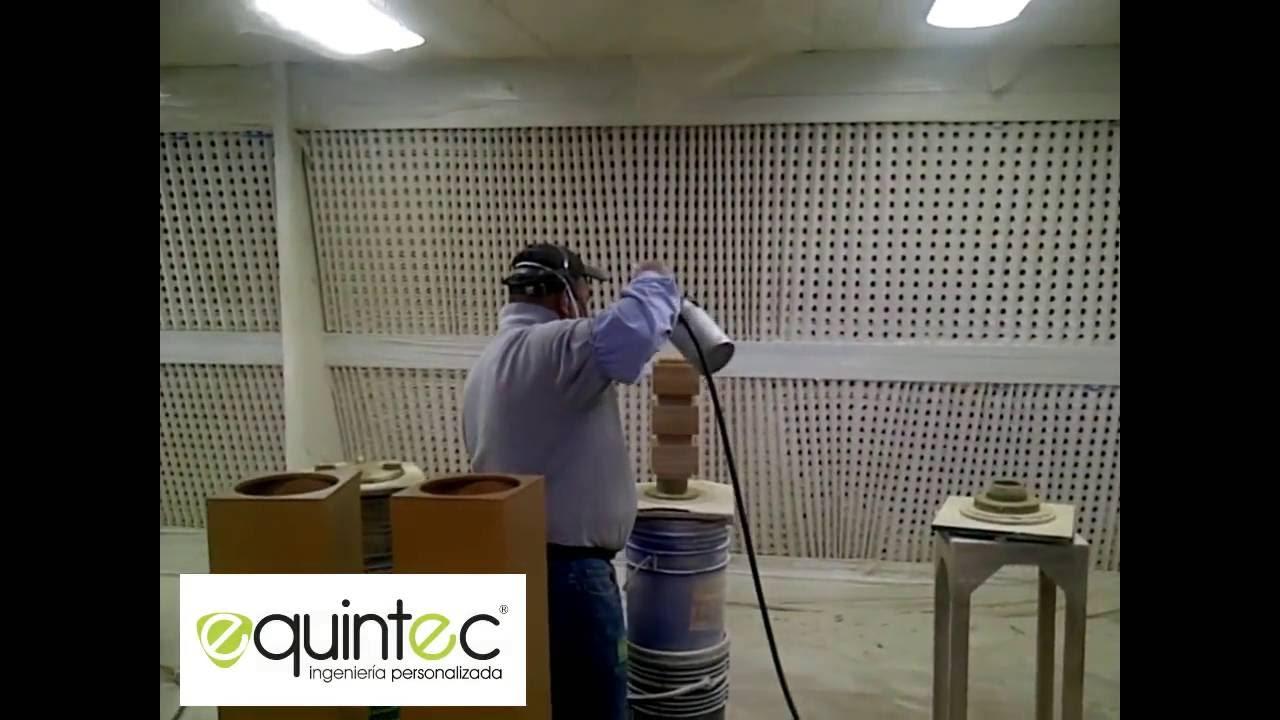 Equintec fabricaci n cabina de pintura liquida para - Pintura para madera ...