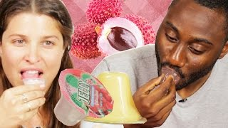 People Try Lychee Jelly For The First Time