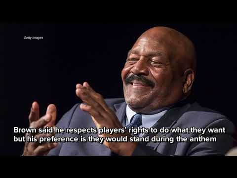 Hall of Famer Jim Brown says he'd never kneel during anthem