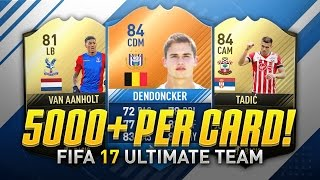 MAKE 5,000+ COINS PER CARD! (FIFA 17 Trading/Investing Method)