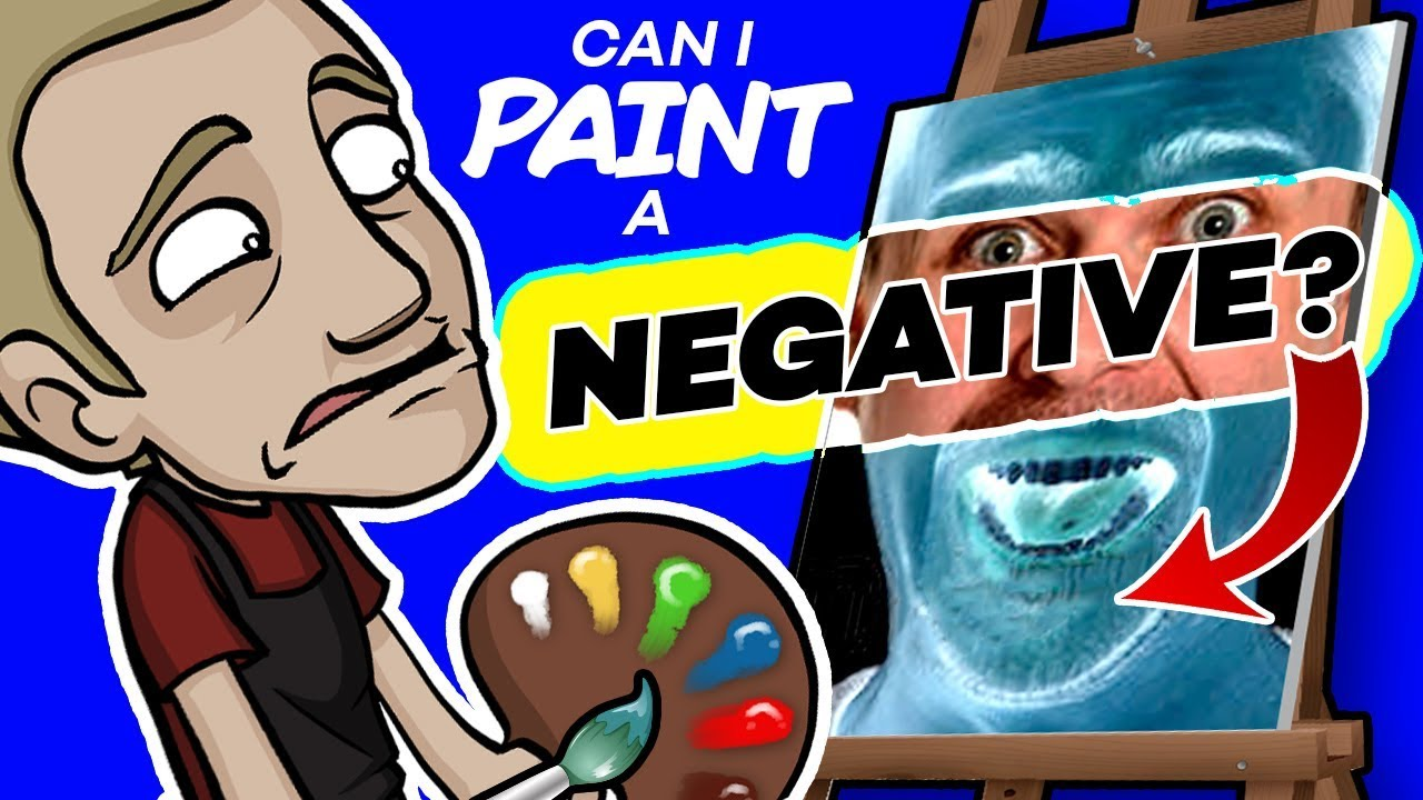 The Inverted Color Challenge Can I Paint A Negative Youtube