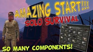 SO MANY COMPONENTS! | Rust Solo Survival Gameplay - Season 2 | Episode 1