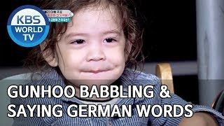 Gunhoo babbling and saying German words [Editor's Picks / The Return of Superman]