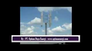 TURBI Wind Turbine - An Electricity Source Option for Your Property - By Optima Daya Energi