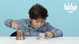 Coffee | American Kids Try Food from Around the World - Ep 7 | Kids Try | Cut