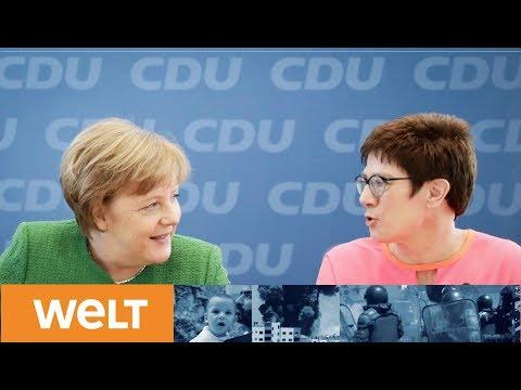 Neuaufstellung zur GroKo: Angela Merkel präsentiert künftige CDU-Generalsekretärin