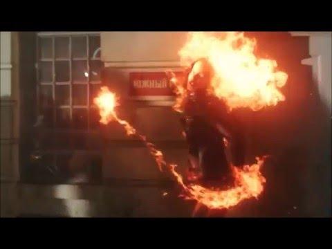 DCs Legends Of Tomorrow 1x05 Soviet Firestorm fight and turns nuclear scene