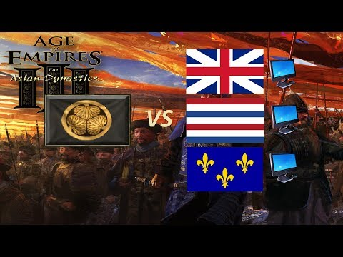 Age of Empires 3 - Defeating All Northwest European Civilizations(Hard Computer) With Japanese 4K