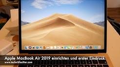 Apple MacBook Air 2019 einrichten und erster Eindruck