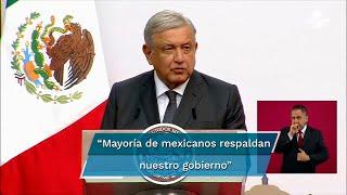 """Andrés Manuel López Obrador dijo estar consciente que existe oposición, pero la mayoría de los mexicanos lo respaldan """"y con eso tenemos"""""""