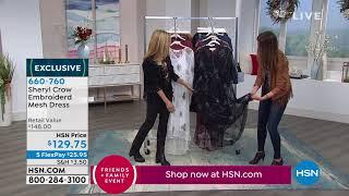Sheryl Crow Embroidered Mesh Dress