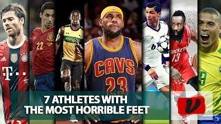 The 7 Athletes with the most horrible and neglected feet in the world (NBA, FOOTBALL, ATHLETICS)