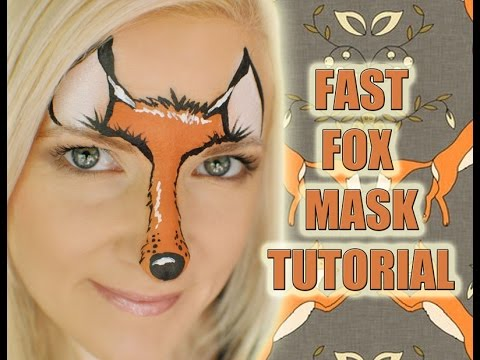 easy fox face painting makeup tutorial  youtube