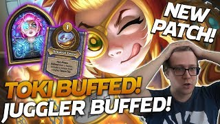 NEW PATCH! TOKI AND SOUL JUGGLER BUFFS ON DISPLAY! | Hearthstone Battlegrounds | Savjz